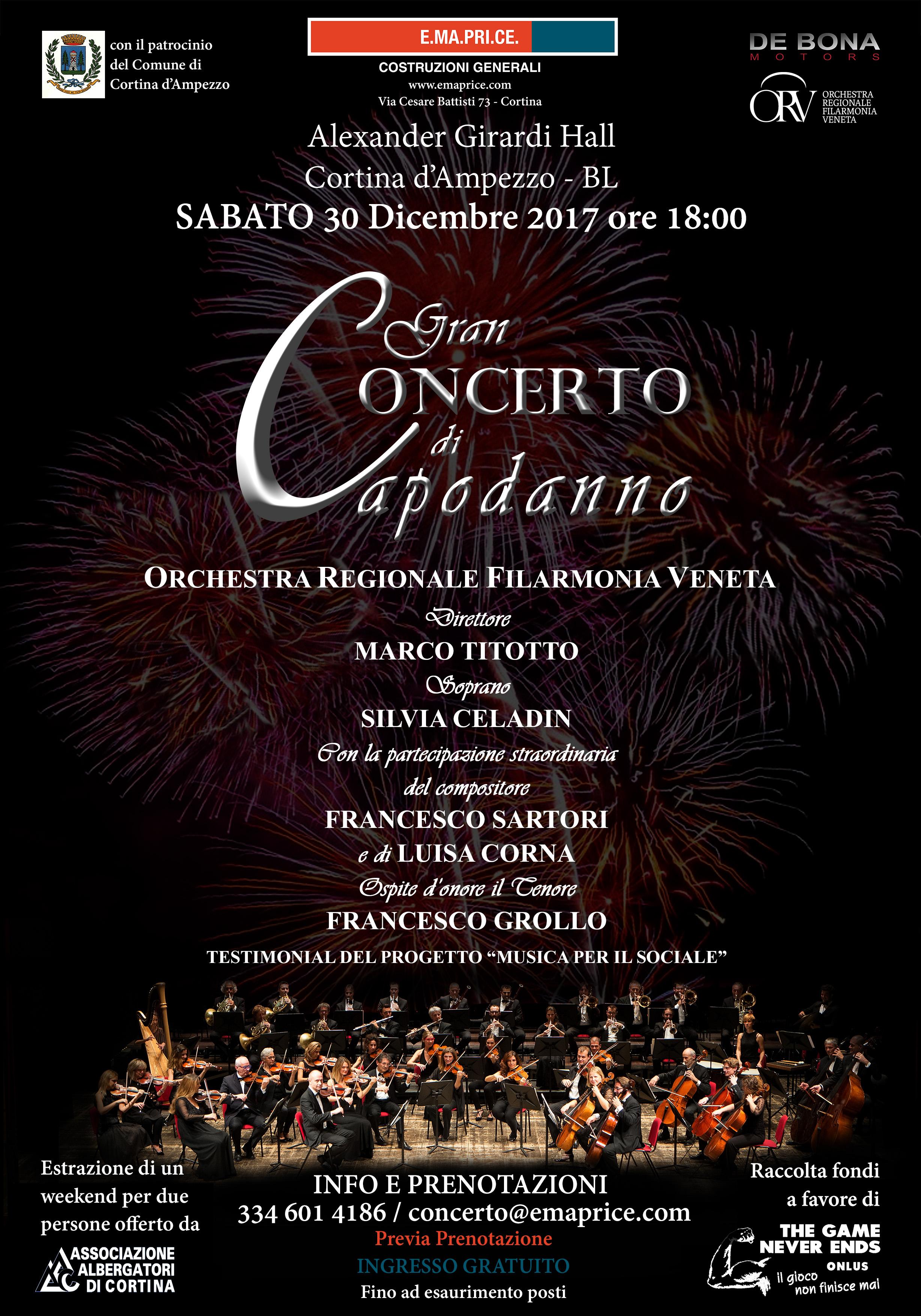 30 dicembre 2017 Concerto a Cortina d'Ampezzo