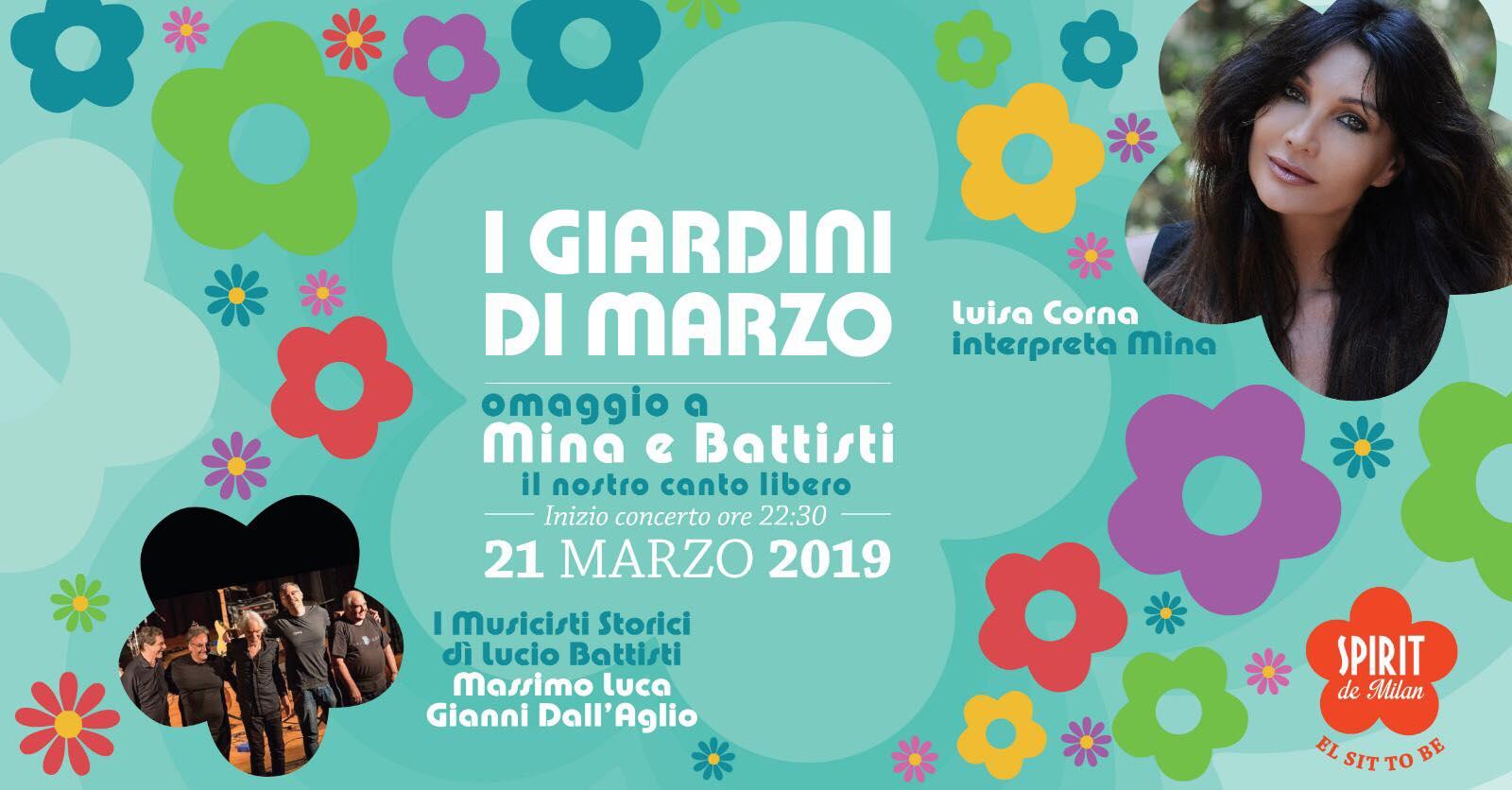 """21 MARZO 2019 ALLO SPIRIT DI MILANO """"I GIARDINI DI MARZO"""""""