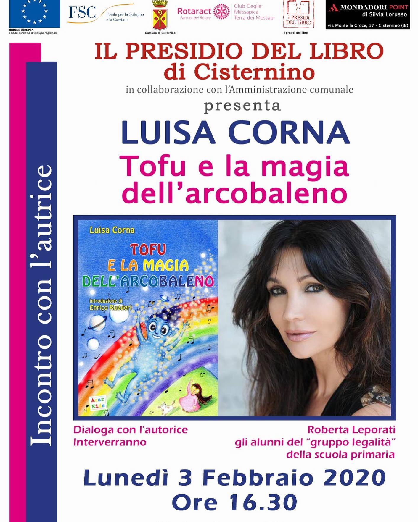 """3 FEBBRAIO 2020 PRESENTAZIONE DEL LIBRO MUSICALE """"TOFU E LA MAGIA DELL'ARCOBALENO"""" A CISTERNINO PUGLIA"""
