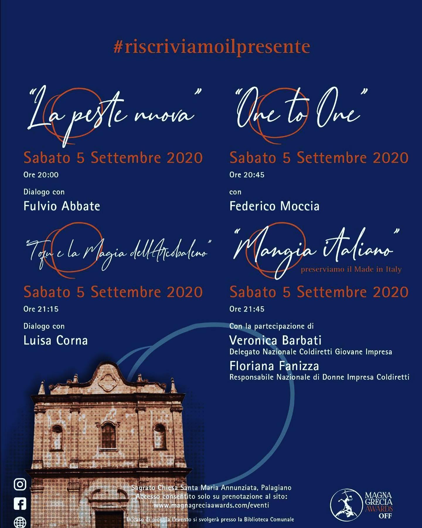 5 SETTEMBRE 2020 PREMIO MAGNA GRECIA AWARDS (PALAGIANO-PUGLIA)